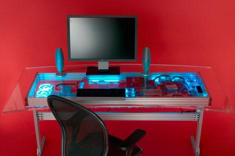 int gration d 39 un pc watercool dans un bureau. Black Bedroom Furniture Sets. Home Design Ideas